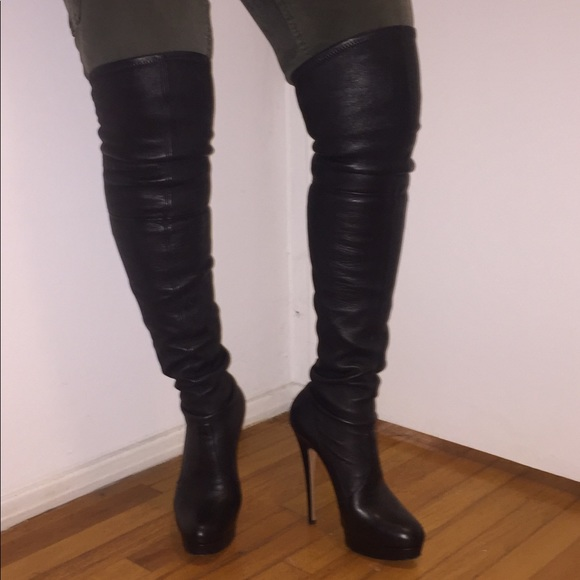 08d509de63fa Casadei Shoes | Thigh High Platform Boots | Poshmark